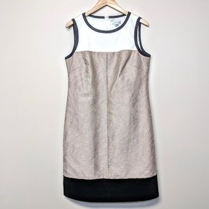 Tahari Color Block Dress